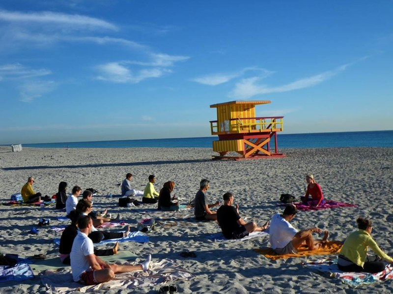 yoga on the beach miami